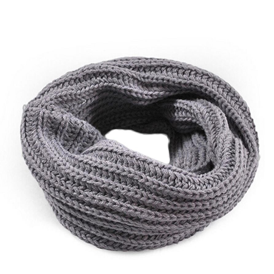 Autumn Winter Boy's Girl's Knitted Circle Wool Scarf Shawl Wrap Winter Warm Collar Drop Shipping Drop Shipping(China)
