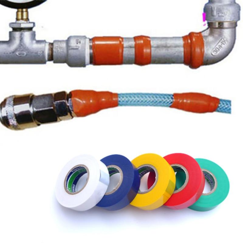 10M Waterproof PVC Performance Repair Tape Plumbing Supply Bonding Rescue Self Fusing Wire Hose Black Transparent Tape