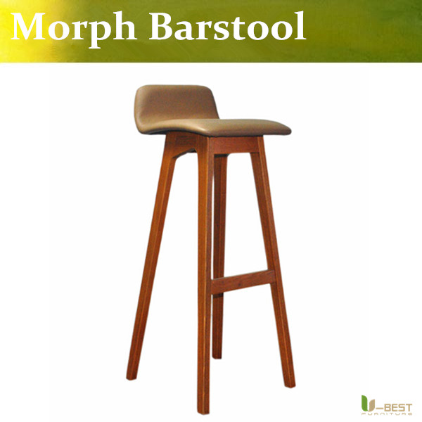 Free shipping U-BEST Nordic wood bar chair Italy designer restaurant High chairs, The coffee shop high foot stool Bar desk chair simple european willow wood are home bar chairs wooden chair stool free shipping