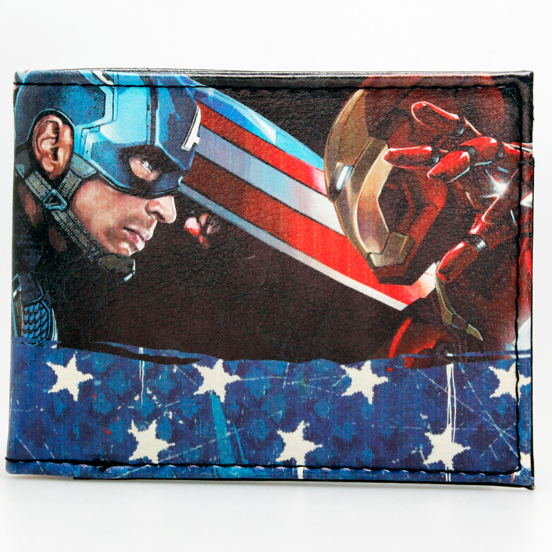 Marvel Comics Leather Character Bifold Wallet DFT-1597 marksojd