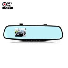 Только один аудио Полный 1080 P Автомобиля DVR цифровой видеорегистратор с Ночного видения 120 широкоугольный объектив камера с Обратной зеркало