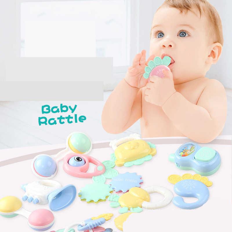 Dziecko grzechotki Mobiles zabawki z tworzywa sztucznego piękne ręcznie Shake Bell pierścień zabawki nowonarodzone dziecko niemowlę gryzaki dla niemowląt zabawki dla dzieci
