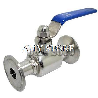 ФОТО 38mm OD Sanitary Full Port Ball Valve to Clamp Ferrule OD 50.5mm SS304 1000 WOG