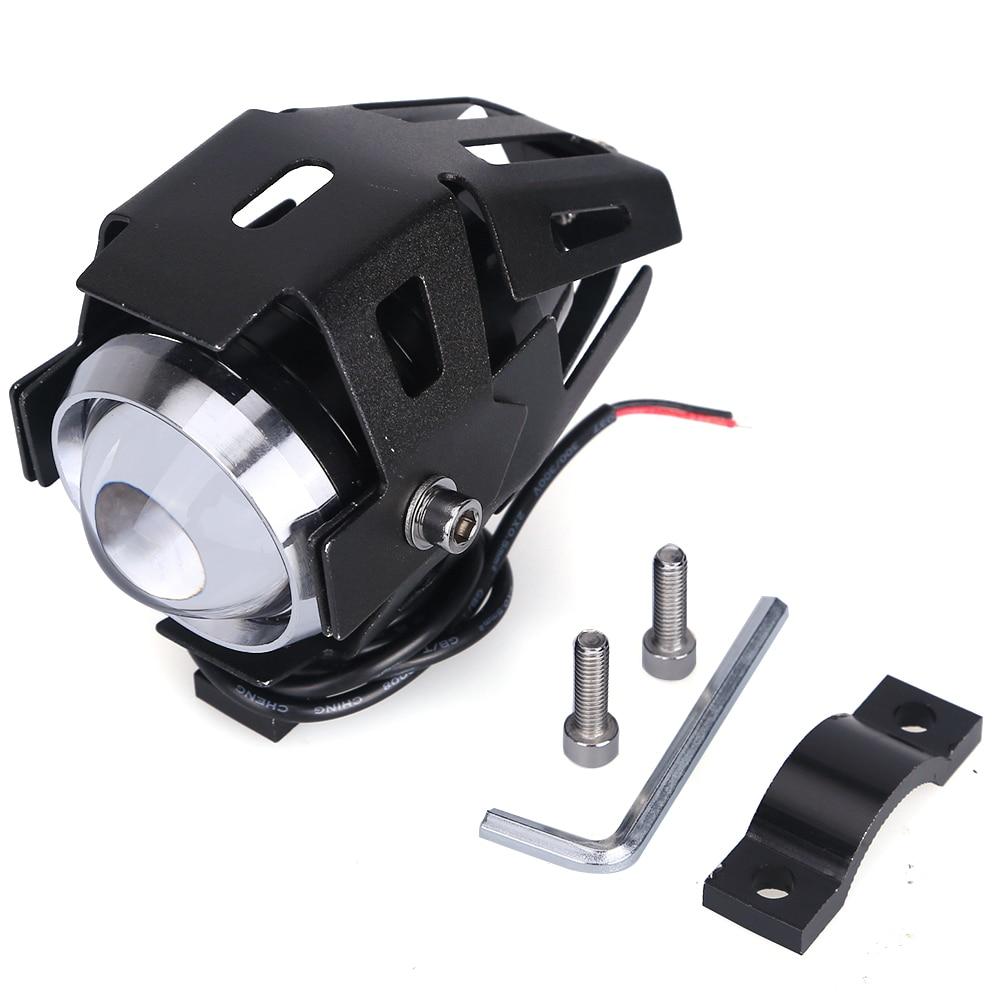 2pcs U5 Universal 12V 125w Motorcycle Led Headlight Lamp Motorbike Fog Spot Light 125w 3000lm Led Head Lamp Motorbike Spotlight