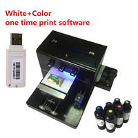 New upgrade A4 Small size UV printer for leather Phone case/Acrylic/Wooden/Metal plate printer With CE with UV ink