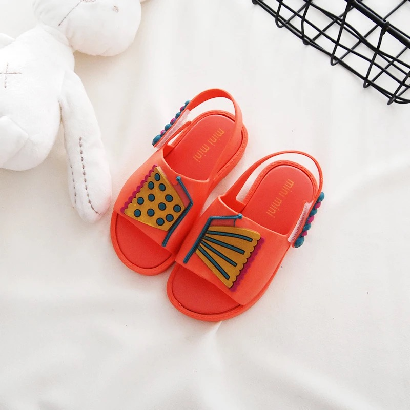 Mini Melissa Butterfly Cute Girls Jelly Sandals 2018 New Girls Shoes Melissa Non-slip Me ...
