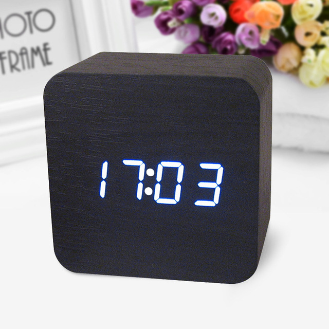 decorative table clocks Control Sensing Alarm Display Electronic LED     decorative table clocks Control Sensing Alarm Display Electronic LED Clock  Vintage Wooden Digital Alarm Clock Desktop