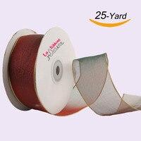 Laribbons 1 1 2 Inch Christmas Wired Edge Organza Ribbon Gradient Series 25 Yard Spool