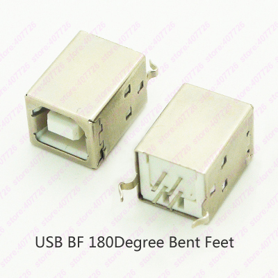 5PCS USB 2.0 Jack B Type USB Connector Female 180Degree Printer Inference Data Transmission Charging Socket Female Black/White 10pcs g45 usb b type female socket connector for printer data interface high quality sell at a loss usa belarus ukraine