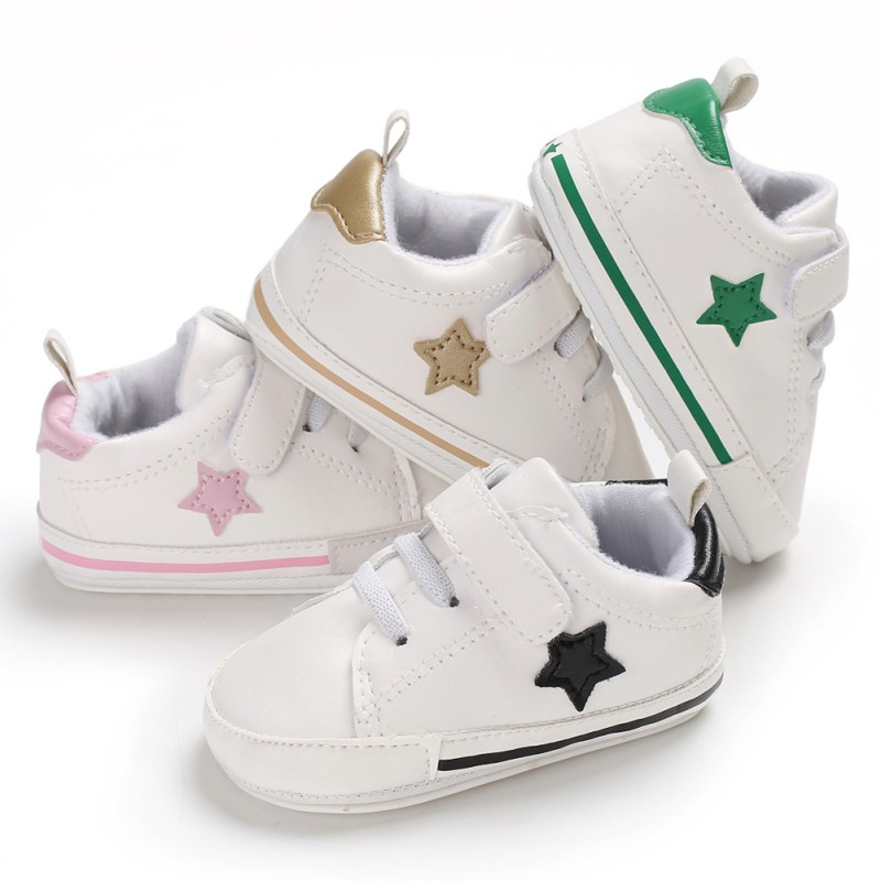 New PU Baby Sneaker Sport Shoes For Girls Boys Newborn Shoes Baby Walker Infant Toddler Soft Bottom Anti-slip First WalkersA
