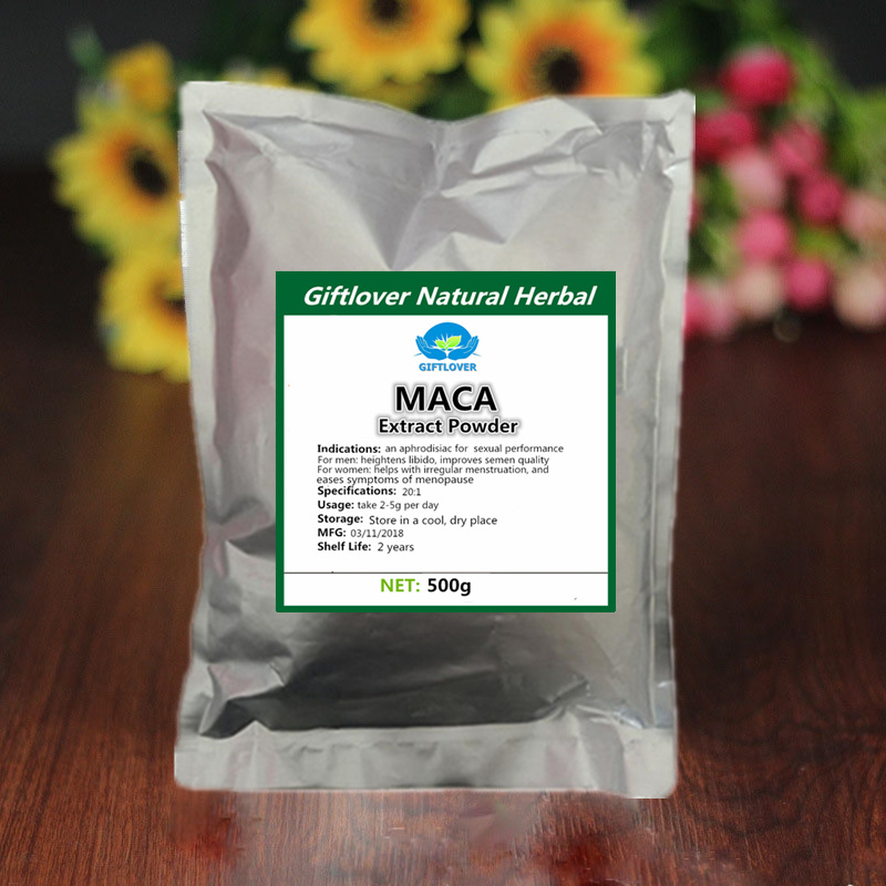 500g Pure Maca 20:1 Extract Powder,Root Powder For Man and Woman,Enhance Energy,High quality Free shipping cordyceps sinensis 50 1 extract 50% polysaccharides powder 17 6 oz 500g free shipping