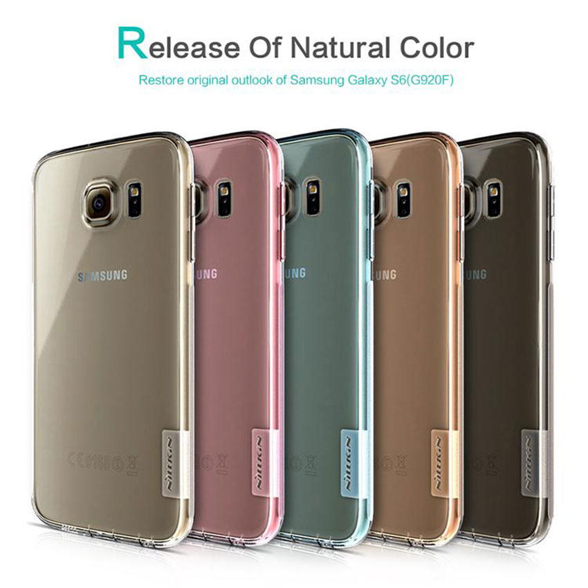 for Galaxy S6 Nillkin Nature Soft TPU Case For Samsung Galaxy S6 G920f G920A G920i Back