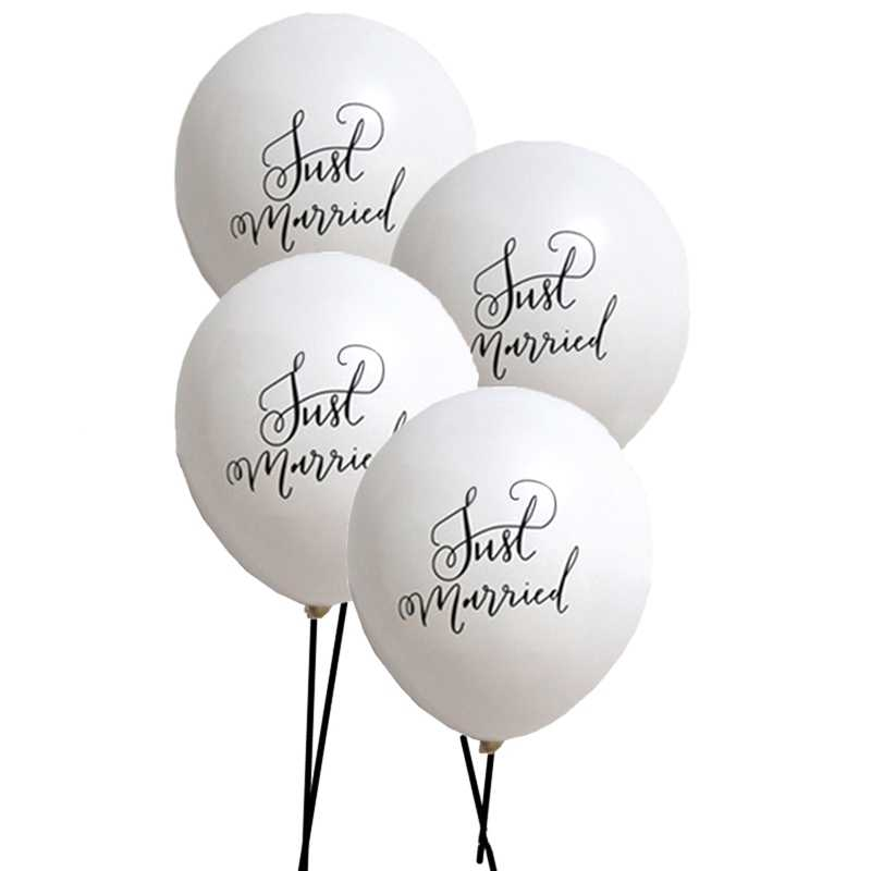 2 pcs Married Latex Balloon White Balloon  Mr Mrs Married Bride Round Latex Balloon Valentine's Day Wedding Party Decor Supplies