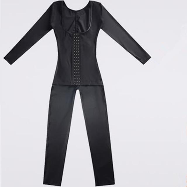 Waist Control Long sleeve Abdomen Thigh Slimming Body Suit