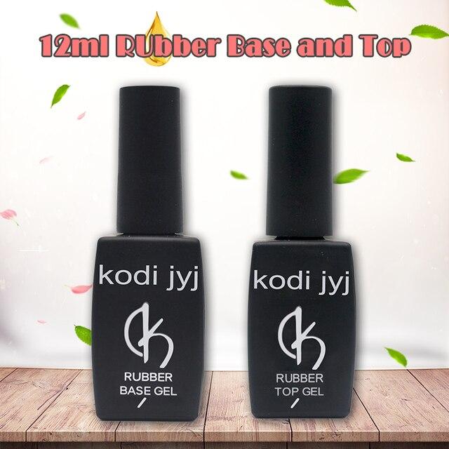 CONTIGO 12ml Professional Rubber Base Coat and Top Coat Soak off Gel Varnish UV Semi Permanent Gel Polish Primer For Nails New K