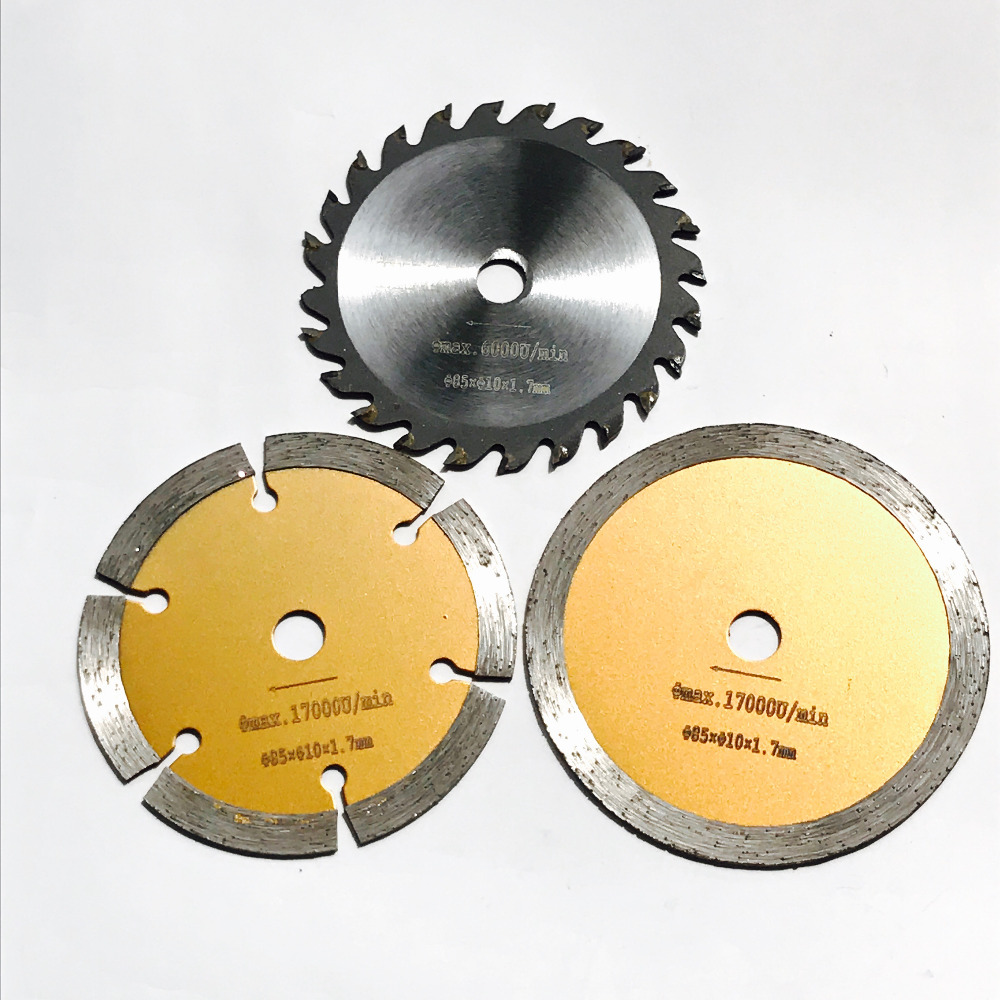 Free Shipping Of 3PCS/set 85*10*1.7mm Diamond Saw Blade&TCT Saw Blade For Home DIY Decoration Work General Cutting Purpose