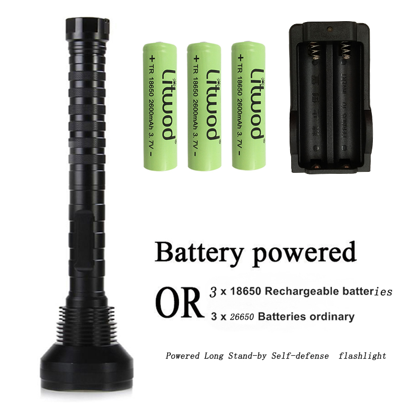 Litwod z35 310 Super Bright self defense XM-L T6 Waterproof LED tactical Flashlight Torch light long-standby for 18650 Batterry 3800 lumens cree xm l t6 5 modes led tactical flashlight torch waterproof lamp torch hunting flash light lantern for camping z93