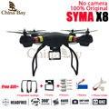 Profesional drone syma x8 quadcopter rc helicóptero sin cámara puede llevar gopro/xiaomi yi/sjcam/eken con mejor regalos