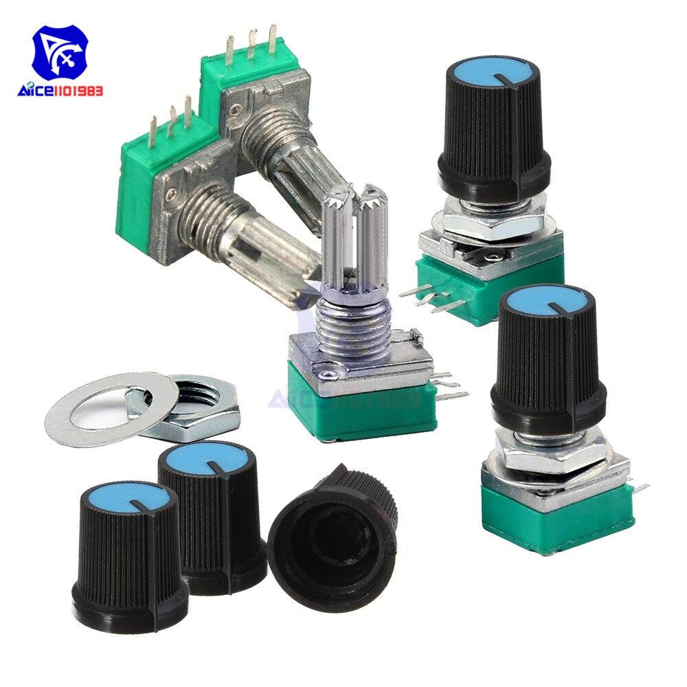 50pcs b1k 1k Ohm Linear Taper Mini potenciómetro pot 15mm