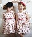 Nuevo 2015, de la muchacha de la princesa vestido de verano, niños / los cabritos del bebé arropa, del corazón del melocotón vestido backless