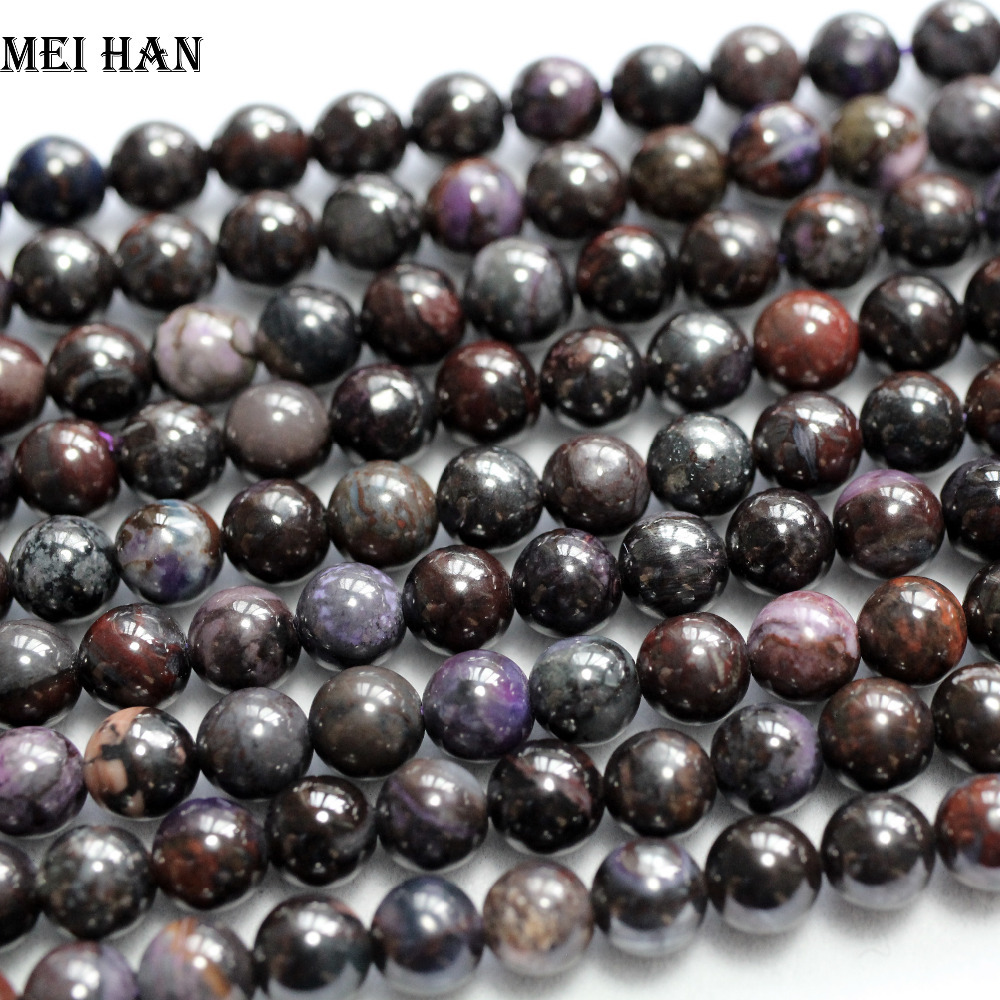 Wholesale natural precious Sugilite stone 6 5 0 2mm smooth round loose beads for jewelry design
