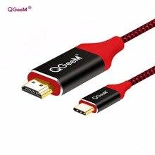 USB C к HDMI 4 К 1080 P 60 Гц USB Type C к HDMI 2.0 Мужской кабель Thunderbolt 3 кабеля 3D для MacBook 2017 Google Chromebook Pixel