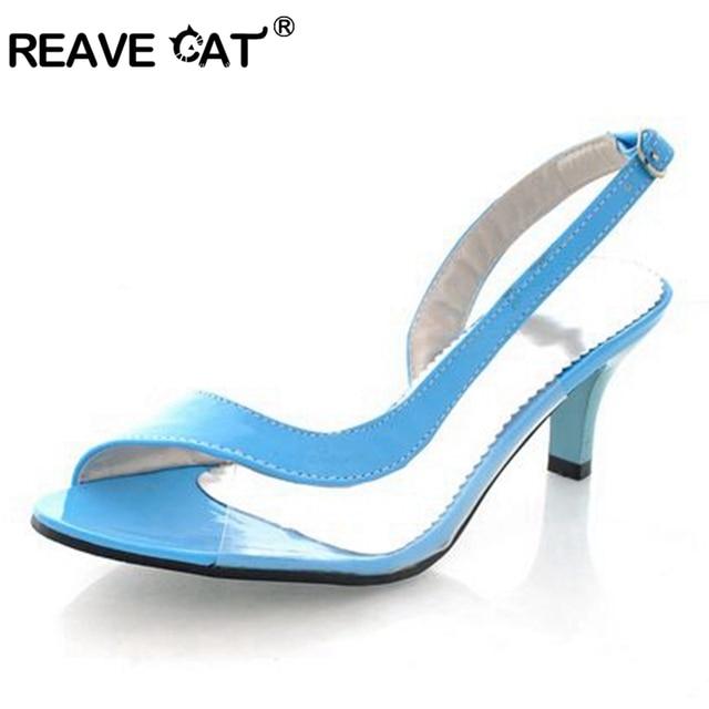 Reave Cat/Большие размеры 34-43; Модные Винтажные на среднем каблуке Гладиатор на платформе Босоножки с открытым носком тонкий каблук женские летние туфли RL711