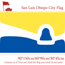 Free shipping San Luis Obispo City Flag 60*90cm 90*150cm 3x5ft 100d Polyester 30*45cm Car For Vote / Event Office