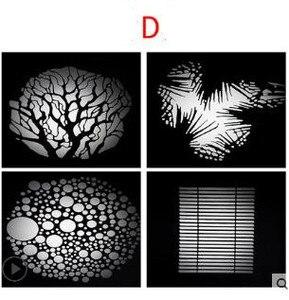 Image 4 - LED kondensator rohr projektion film grafik DIY licht rohr form einfügen OT1 kondensator objektiv hintergrund licht wirkung film NO00DGT07