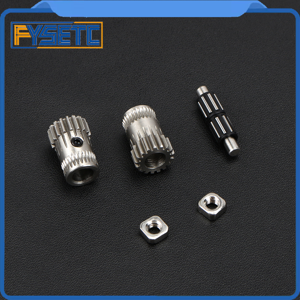 2Sets Cloned Btech Dual Gears DIY Prusa i3 Steel Pulleys Kit Gears Extrusion Wheel For Prusa i3 MK2/MK3 3D Printer Part die steel feeding extrusion wheel for 3d printer black