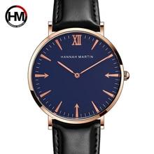 Hannah Martin Watch Men Exquisite Simple Style Top Brand Fashion Quartz Clock Women Wristwatches Watches Mens 2019 Zegarek Meski