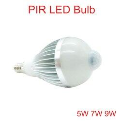 5 W 7 W 9 W Sensor de Movimento PIR Lâmpada LED E14 AC110V-240 DIODO EMISSOR de luz Ao Ar Livre Branco Quente/Frio Whtie PIR Lâmpada LED lâmpadas luzes