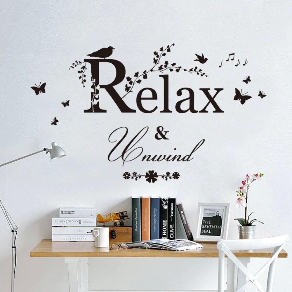 8563 * wörter \'RELAX\'wall aufkleber wohnkultur dekoration wohnzimmer ...