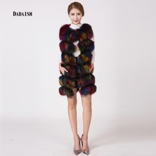 Vogue of new fund of 2016 ms discus the fox fur vest to keep warm fur vest bag postal mail