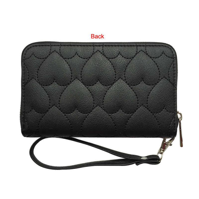 Moda Kadın küçük cüzdan Kapitone Kalp Fermuar Çanta Kadın Aşk Bileklik Cüzdan bozuk para cüzdanı kart tutucu Para Çantası Carteira