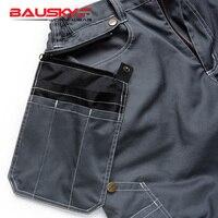 Bauskydd мужские мужской прочный спецодежды мульти-карман брюки карго с наколенниками для 100% хлопок рабочих Штаны Бесплатная доставка