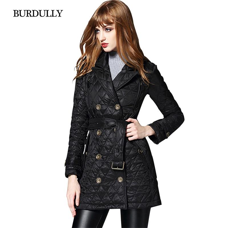 BURDULLY Large Size Parkas For Women Winter Black Cotton Jacket Female Outwear Long Parka Jackets Autumn Coat Jaqueta Feminina
