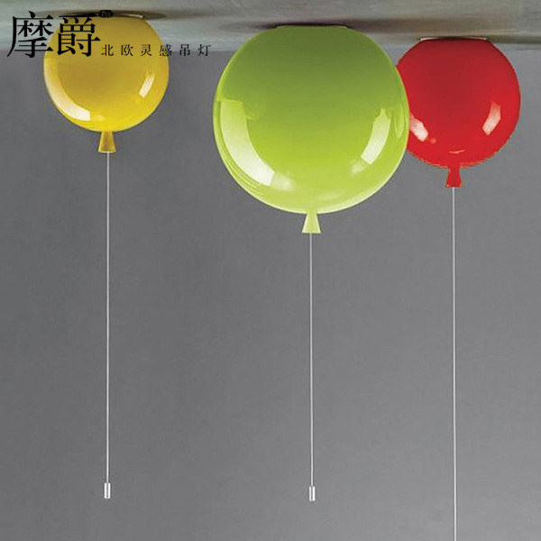 Bulb Free kids' Gifts Colorful balloons Pendant Lighting Children Room Interesting Lighting Wall / Ceiling Install