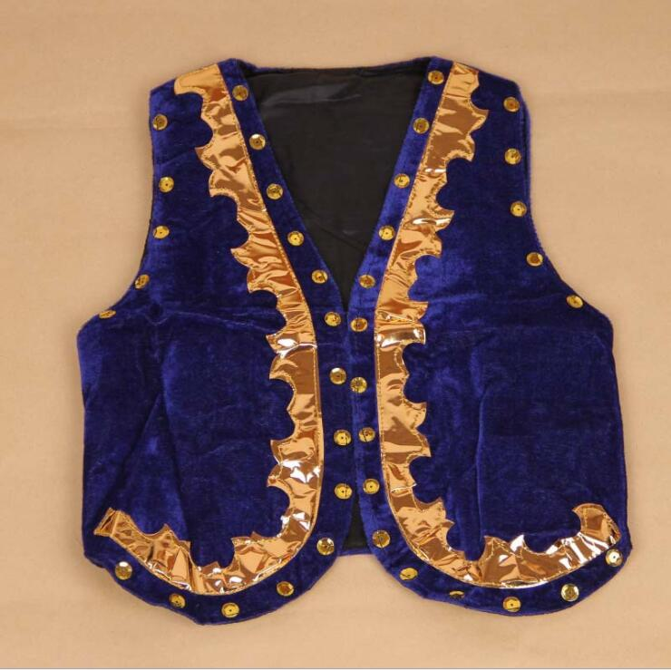 Children s dance wear boy vest Uighur children performance clothing costume