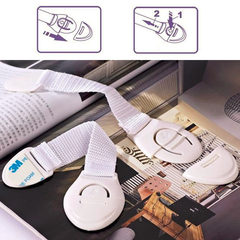 10 Unids Bebe Puerta de Gabinete Cajones Nevera Wc caja Lock Plastico Nino Ninos Cerraduras De Seguridad Del Bebe de Proteccion