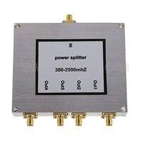 Новый 4 Way SMA Мощность Splitter 380 мГц ~ 2500 мГц, SMA женский Мощность делитель сигнала кабель-разветвитель женский делитель Бесплатная доставка