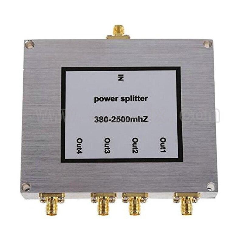 New 4 Way SMA Power Splitter 380mhz~2500MHz,SMA Female Power Divider Signal Cable Splitter Female Divider Free Shipping