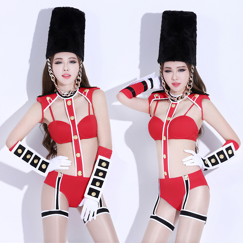 Stage & Dance Wear Chinese Folk Dance New Sexy Woman Dance Bar Show Clothes Nightclub Gogo Party Dj Singer Racing Girl Lead Gogo Dancer Costume Freeshipping