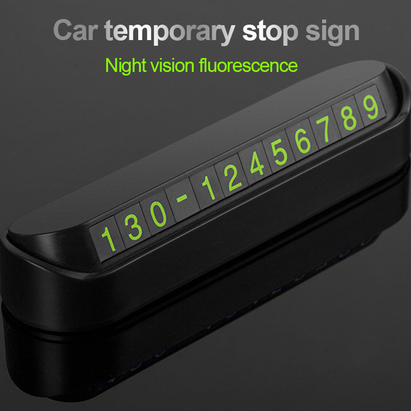 Image 3 - Car Temporary Parking Card Auto Interior Phone Number Card Universal for Automobiles Stop Number Stickers Auto Goods Accessories-in Car Stickers from Automobiles & Motorcycles
