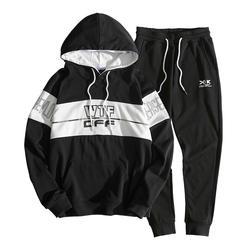 2018 Модные осенние мужские комплекты куртка + штаны, толстые тренировочный костюм 2 шт. комплект костюм для мужчин/женщин костюм спортивные