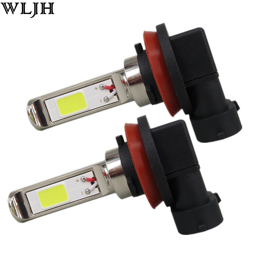 Wljh 2x 30w cob led h8 car fog driving lamp light bulb for chevrolet cruze captiva