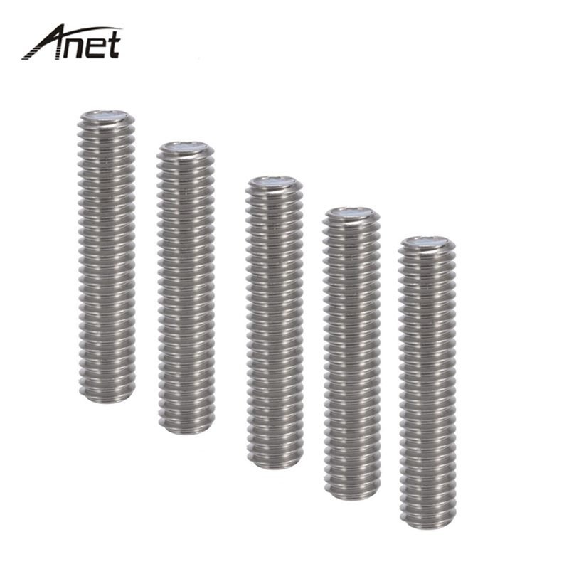 5PCS/lot M6*40mm Teflon Nozzle Throat 3D-Printer Parts for A8 3D printer MK8 Tube Makerbot 3D Printer Extruder End 1.75mm