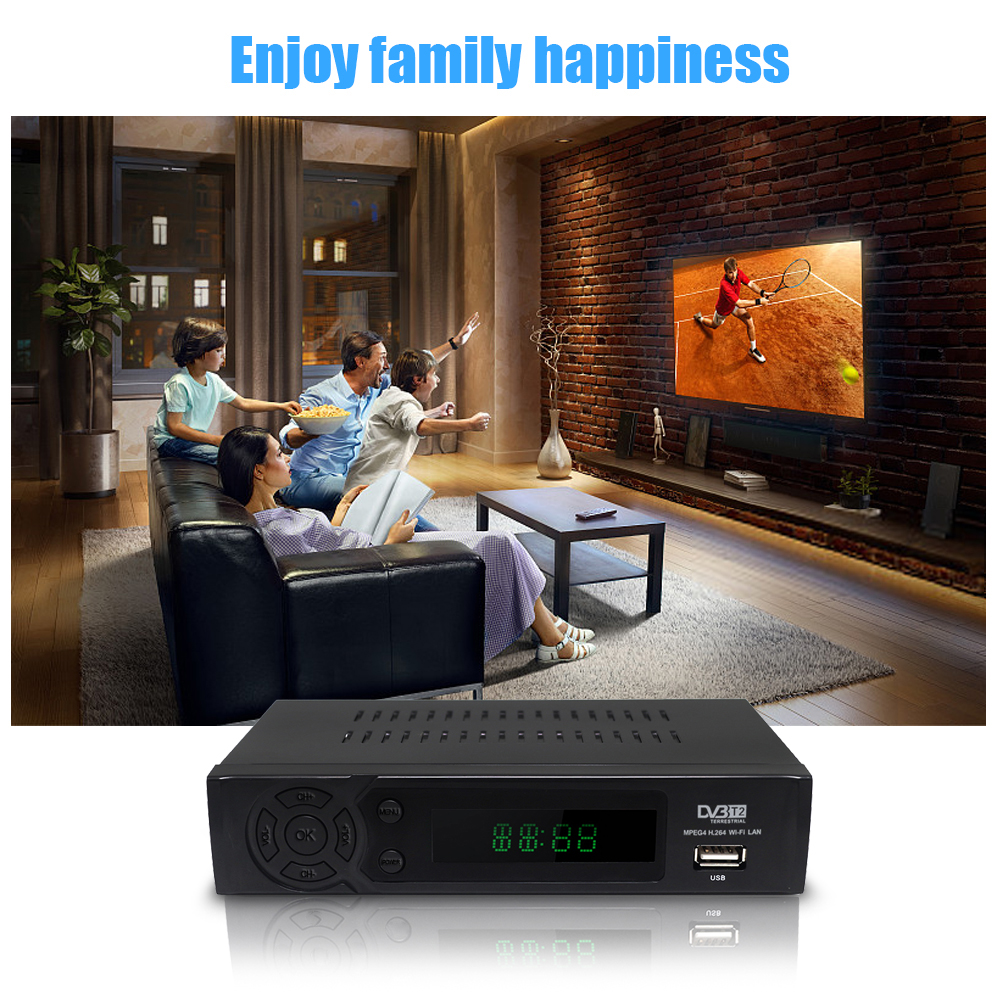 Image 3 - DVB TV box DVB T2 8939 full HD 1080P Digital Terrestrial Receiver DVB T2 MPEG 4 H.264 Support MEGOGO Youtube PVR with tv antenna-in Satellite TV Receiver from Consumer Electronics