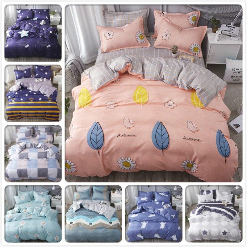 Single Twin Full Queen King Size Duvet Cover Comfort Quilt Pillow Case Sheet 3pcs/4pcs Bedding Set Soft Cotton Bed Linen 150x200
