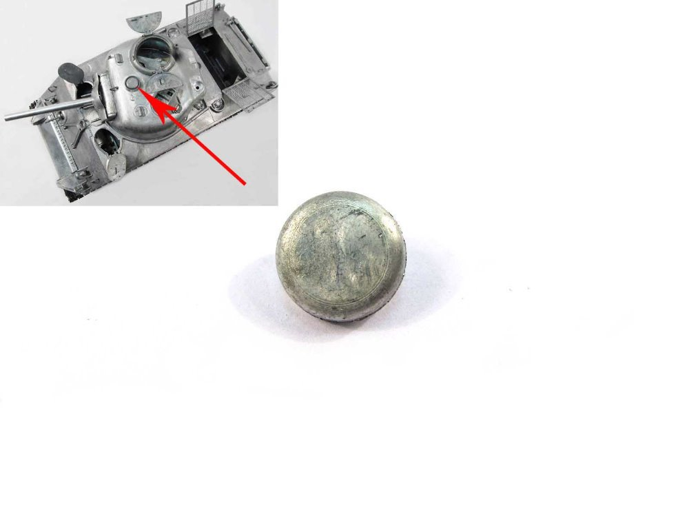1:16 Mato Metal Turret Ventilator for 1/16  Mato 1230 USA Sherman M4A3(75)W rc tank, spare tank parts mato sherman tracks 1 16 1 16 t74 metal tracks